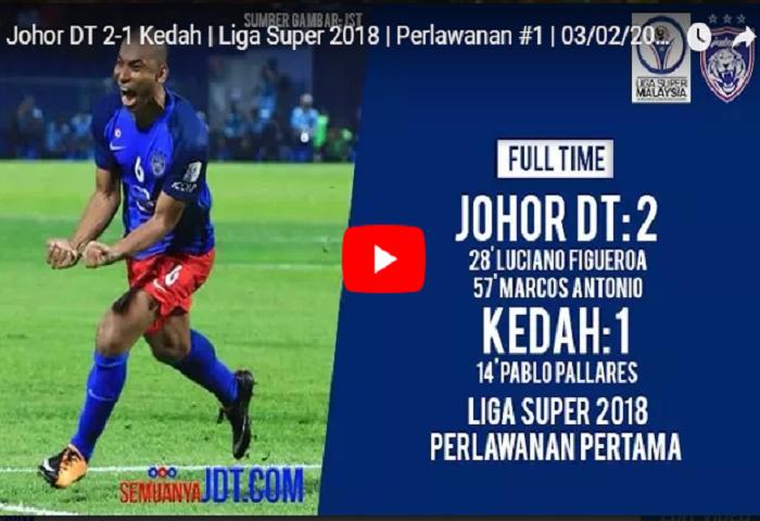Video Rangkuman Jdt Kedah