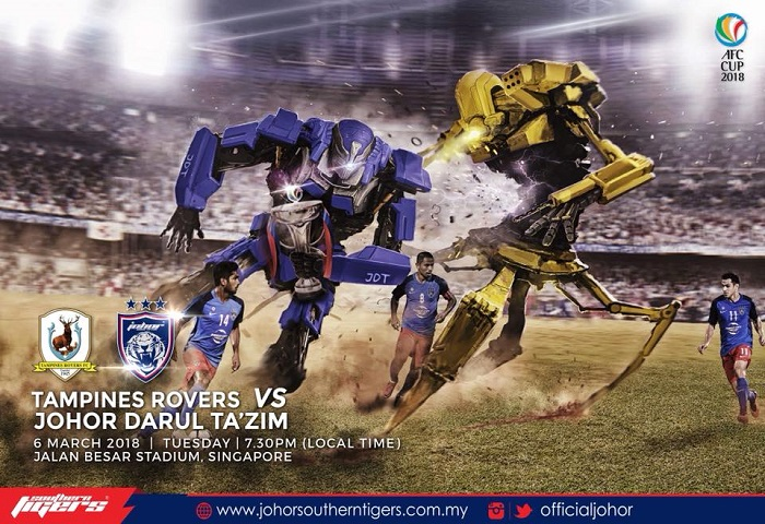 Piala AFC 2018: Tampines Rovers Vs JDT Live Streaming (06/03/2018)