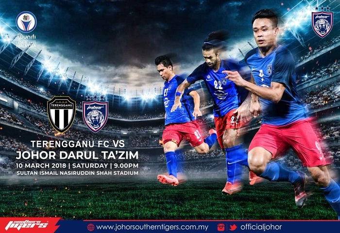 Liga Super 2018: Terengganu Vs JDT Live Streaming (10/03/2018)