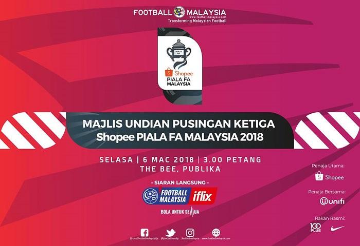 Live Streaming: Undian Pusingan Ke-3 Piala FA 2018