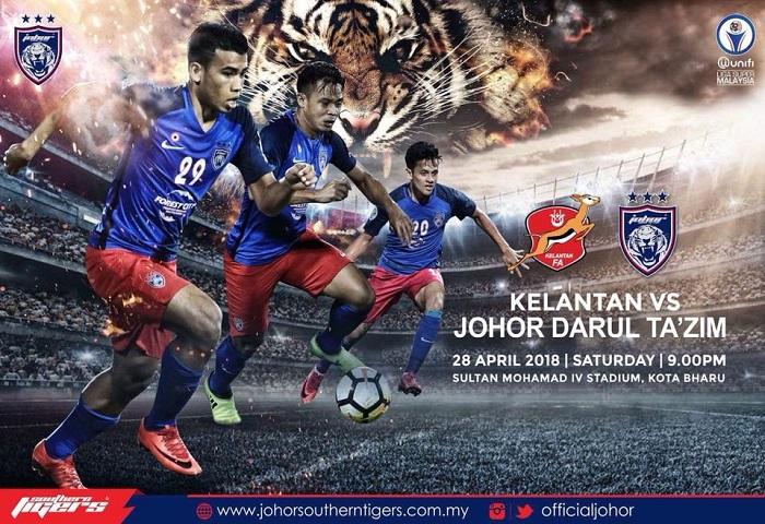 Liga Super 2018: Kelantan Vs JDT Live Streaming (28/04/2018)