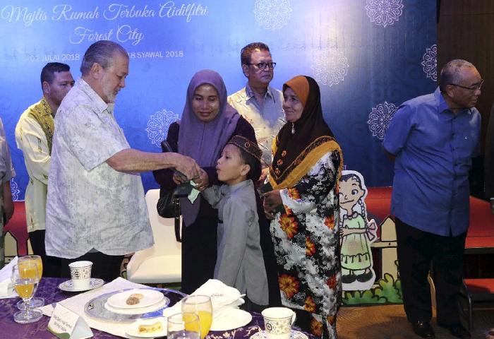 Sultan Johor Hadir Majlis Aidilfitri Forest City
