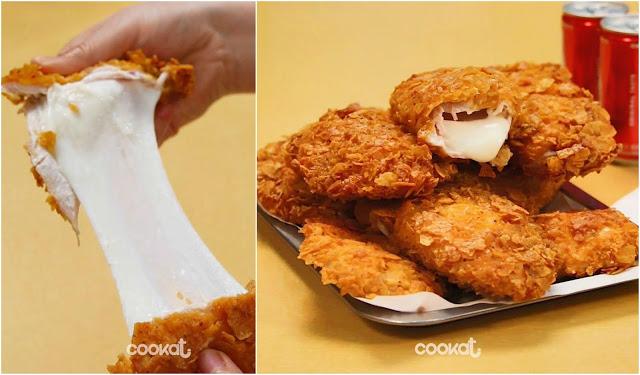 Boleh Tarik Keju Sepuas Hati, Ini Resipi Cheesy Chicken Sandwich