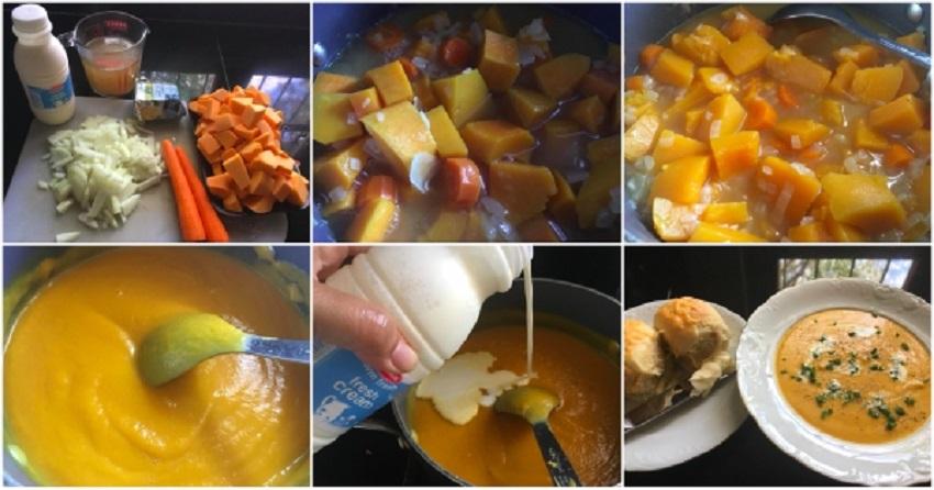 Senangnya Buat Butternut & Carrot Soup'Ini Untuk Turunkan Suhu Demam Panas Si Manja