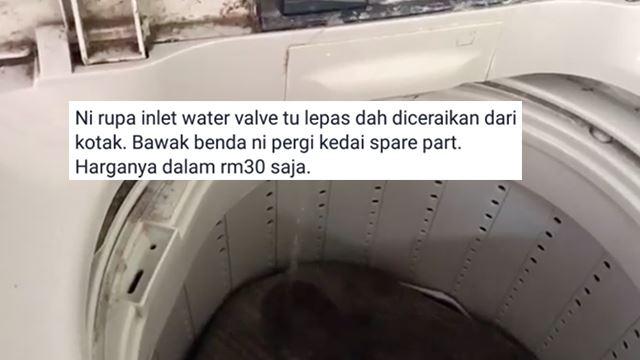 Air Masuk Ke Mesin Basuh Terlalu Perlahan? Boleh Repair Sendiri Dengan Kos RM30