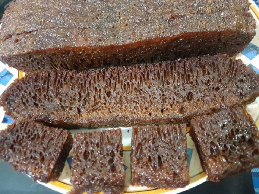 kek gula hangus penuh bersarang masak guna rice cooker semuanya jdt Resepi Kek Guna Gelatin Enak dan Mudah